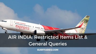 Restricted items on Air India