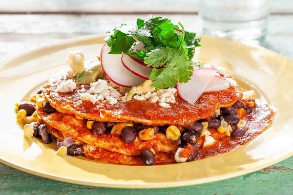 Enchiladas Montadas- New Mexico