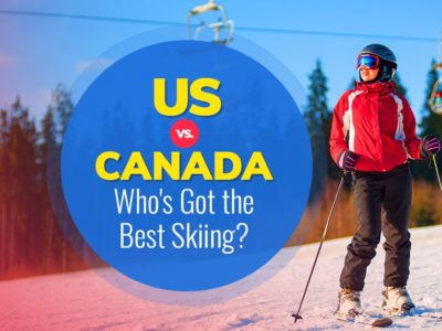 Skiing in the US or Canada